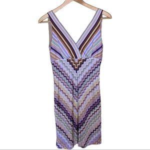 Missoni Zig Zag Knee Length Dress Size 40 IT